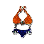 Itsy Bitsy Bikini Blue & Orange- Nickel