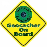 Geocacher On Board - Car Sticker