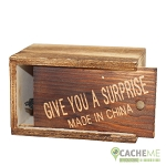 Wooden Box Jump Fake Insect Cache