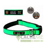 Log My Dog Collar – Max Reflective Green
