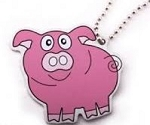 Penelope the Pig Travel Tag