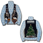 Ugly Sweater Geocoin- Antique Silver
