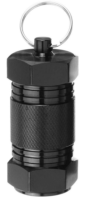 Double Opening Bolt Container - Black