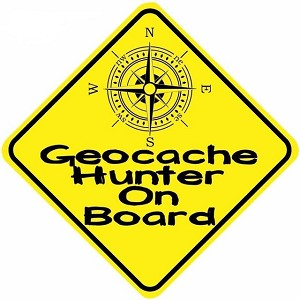Geocache Hunter On Board  - Car Sticker