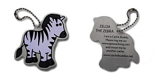 Zelda the Zebra Travel Tag