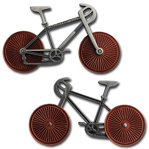 Bicycle - Two Tone Antique Nickel Bike Antique Copper Wheels