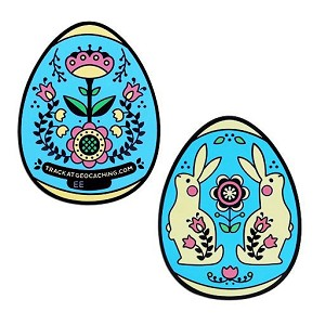 2019 Egg Geocoin- Blue