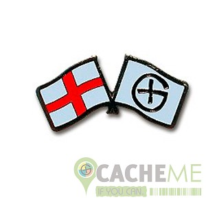 England Flag + Geocaching Pin