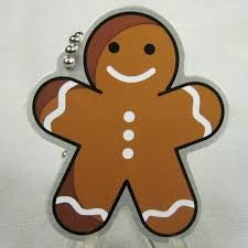 Dottie the Gingerbread Man Travel Tag