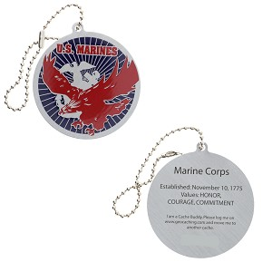 Salute Your Troops - Marines Travel Tag