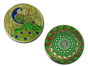 Eye Of The Stars - Geocoin - Gold