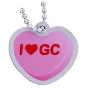 """I Heart GC"" Travel Tag- Pink"